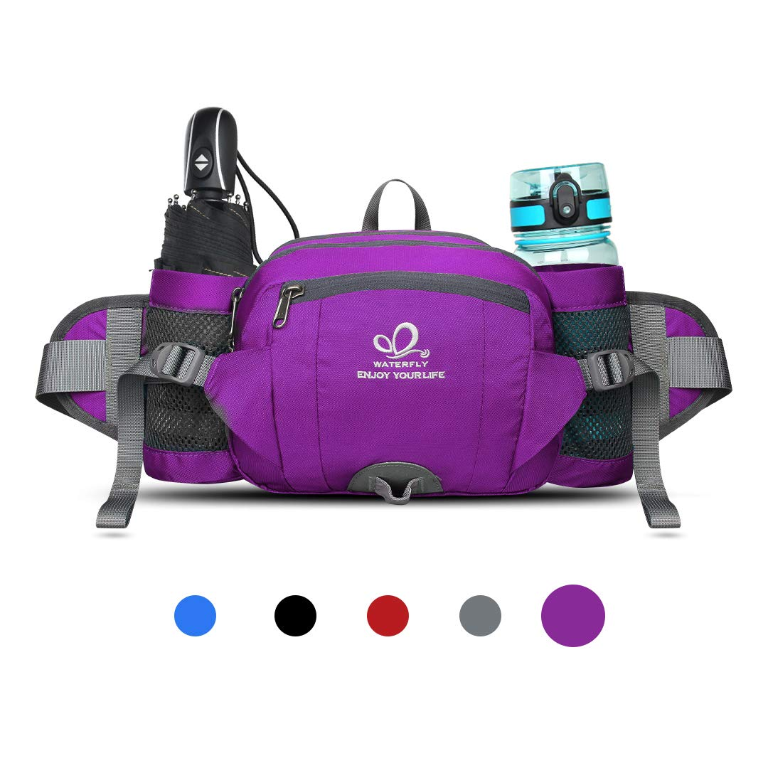Waterfly Fanny Pack With Double Water Bottle Holder
