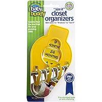 Baby Buddy Size-It Closet Organizers, Yellow, 5-Pack