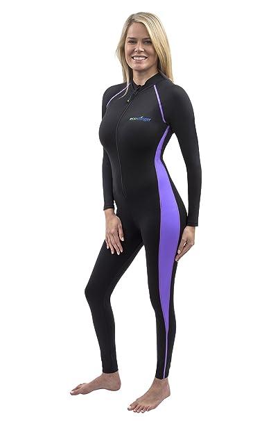 Amazon.com: Mujeres Full Body Guardia de traje de baño sol ...