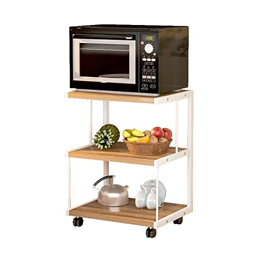 Mueble de horno de cocina de microondas de 3 capas móvil ...