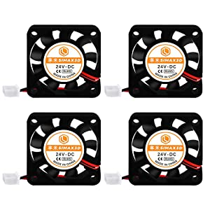 [4Pcs/Pack]3D Printer kit Cooling Fans Parts 4010 Blower 24V Fan for Extruder hot Ends DC Cooler Blower Ender 3 Pro hotend 3D Printer hotend, Computer,Humidifier,with 1M Cable