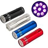 Mini Lanterna Luz Ultra Violeta Com 9 Led Portátil Camping Várias Cores