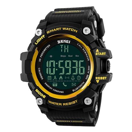Reloj Inteligente Xinan Reloj Impermeable Bluetooth Resistente al Agua Phone Mate para teléfono Inteligente Deportivo con presión Arterial/Oxímetro ...