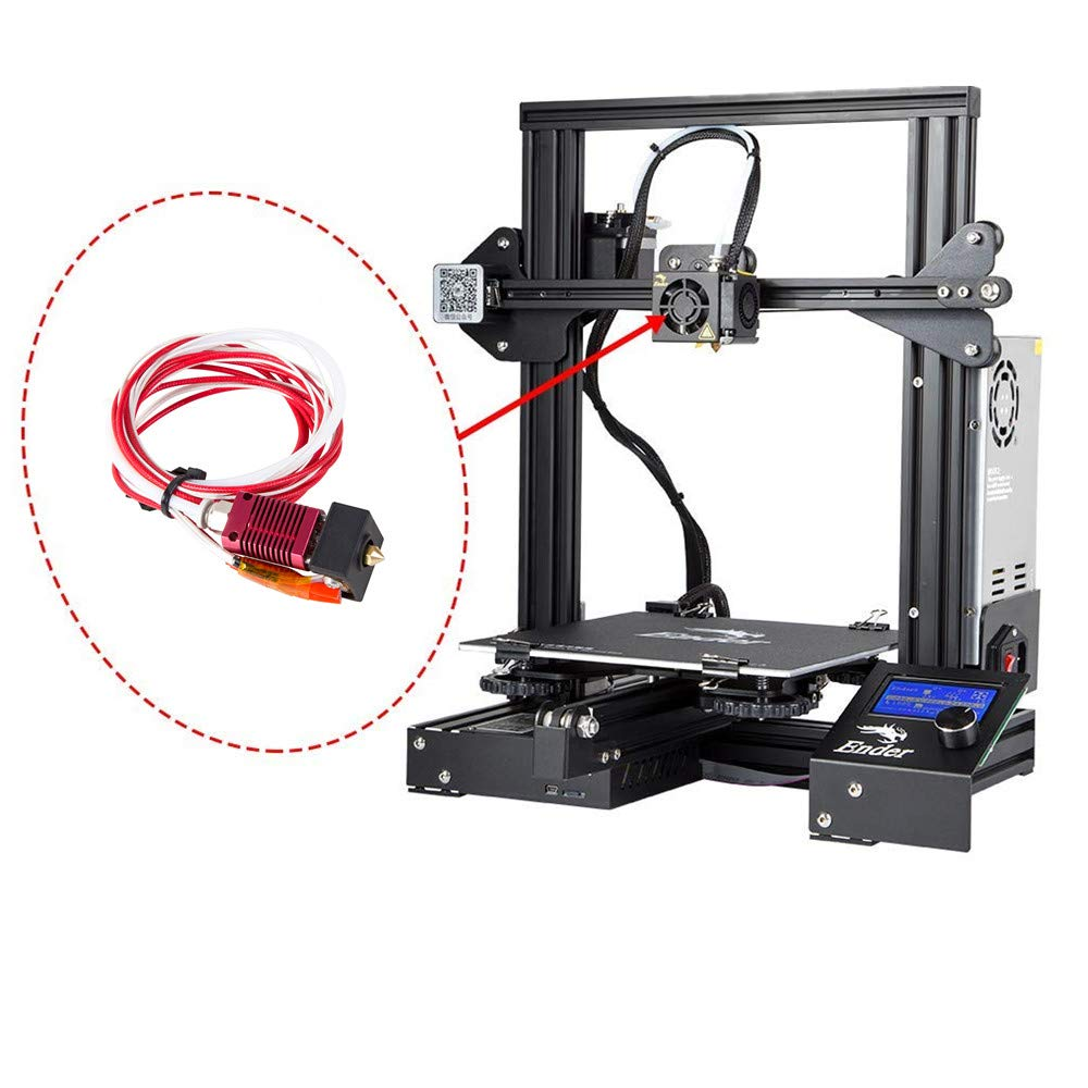 1.75mm 0.4mm Nozzle Creality 3D Ender 3 Pro with Aluminum Heating Block Creality Original 3D Printer Extruder Assembled MK8 Hot End Kit for Ender 3