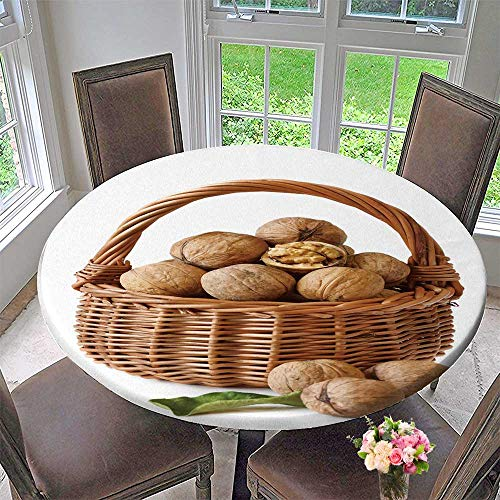 ar Table Cover Garden Walnuts in a Wicker Basket on a White Background for Wedding/Banquet 43.5