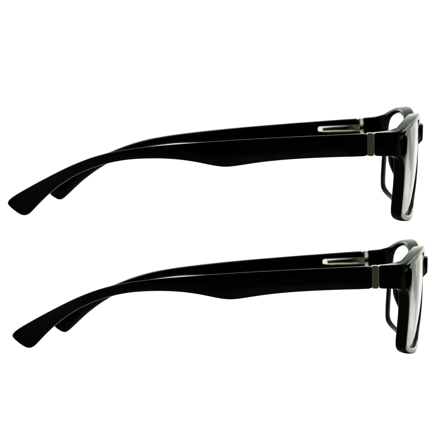 Computer Reading Glasses 0.00 Black 2 Pack Protect Your Eyes Against Eye Strain, Fatigue and Dry Eyes from Digital Gear with Anti Blue Light, Anti UV, Anti Glare, and are Anti Reflective by TruVision Readers (Image #9)