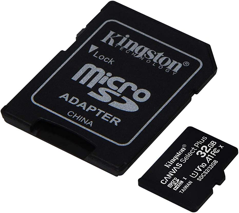 SDCS2//32GBCR Kingston 32GB micSDHC Canvas Select Plus 100R A1 C10 Card+ADP