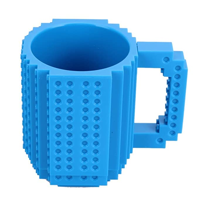 OIVA Build-On Brick Coffee Mug, 12 oz (Blue)