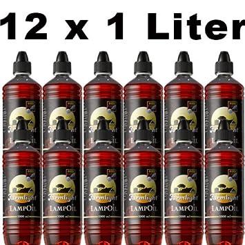 Sel-Chemie - Paraffina per lampada a olio, 12 l, colori vari o misti (rosso, giallo, blu, verde) blu