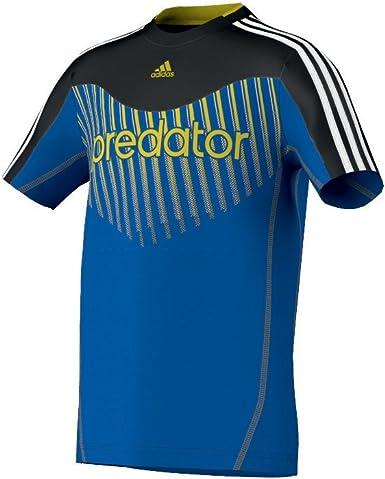 adidas Predator - Camisa de Acampada y Senderismo para niño, tamaño 164 UK, Color Satellite/Negro: Amazon.es: Ropa y accesorios