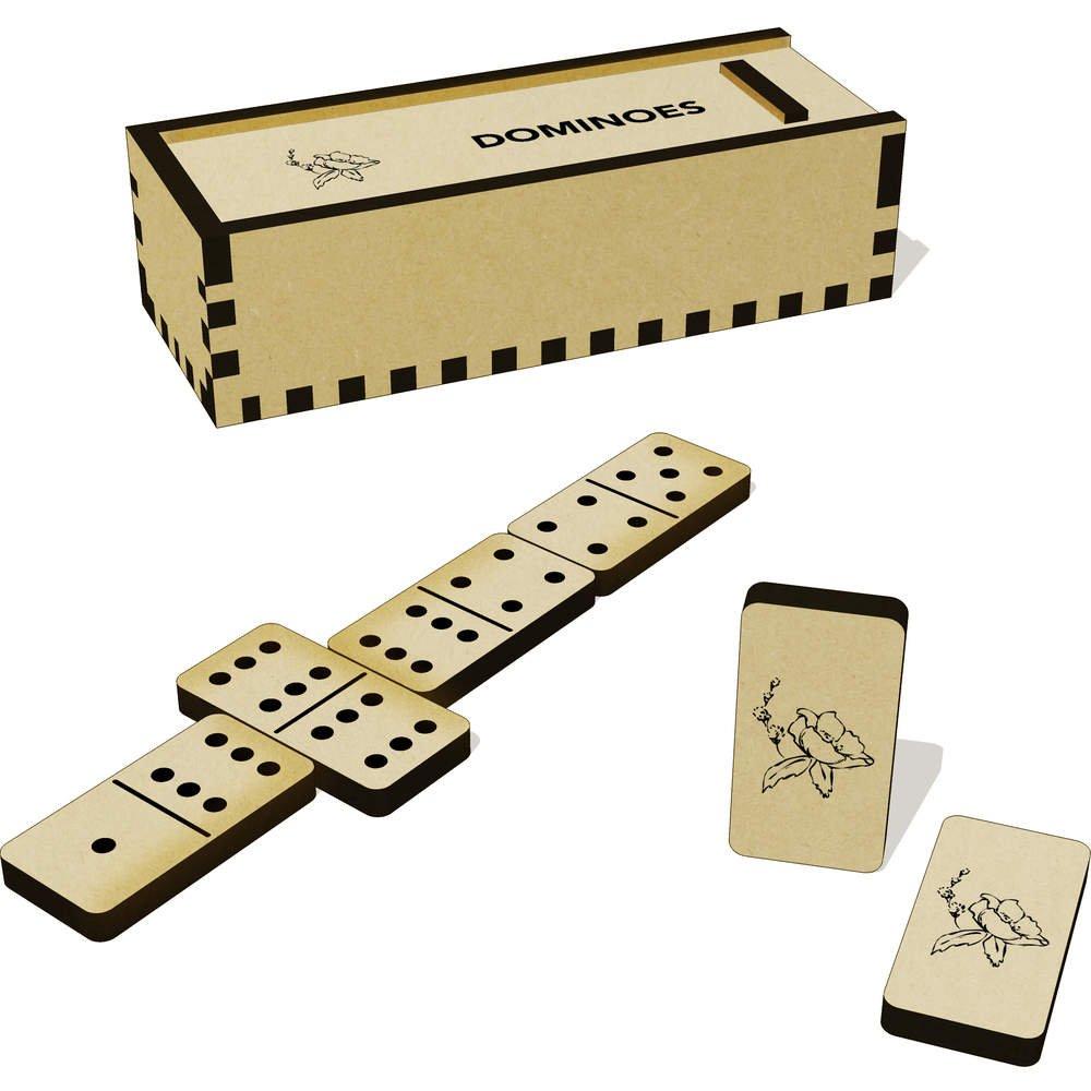 Juegos de mesa DM00016956 Juegos tradicionales Azeeda Bonita Flor Domino Juego y Caja
