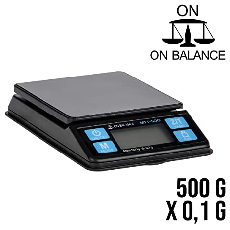 Amazon.com: On Balance Báscula Digital 500 g x 0,1 g Cocina ...