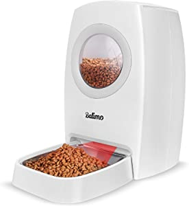 Balimo 6L Automatic Cat Feeder for Dogs and Cats, Automatic Feeder with Food Desiccant Bag, Timer Programmable Feeding, Portion Control 1-4 Meals per Day, 10s Voice Recording for Small Medium Pets