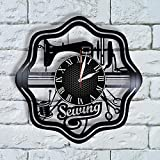 Sewing Wall Art Vinyl Wall Clock, sewing gifts for mom quilting gifts