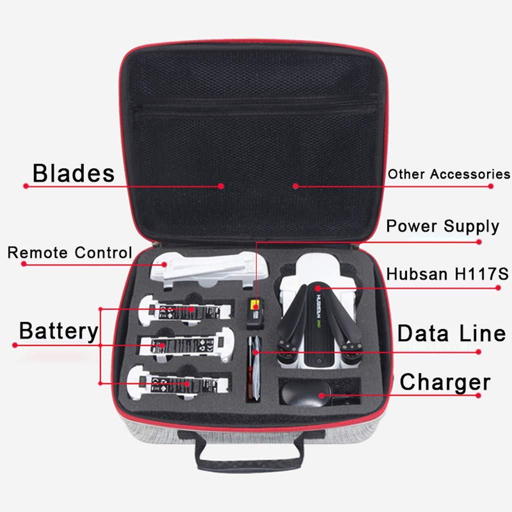 Yagii Eva Wasserdicht Drohnen Zubeh/ör Eine Schulter Aufbewahrungstasche Eingebaut Gitter Aufbewahrungstasche Koffer f/ür Hubsan Zino H117s
