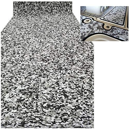 CHURERSHINING EVA Teak Decking Sheet Marine Flooring Adhesive Carpet Black Camouflage with Grey 94.5