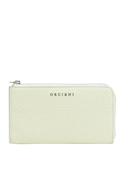 Orciani - Cartera para mujer de piel Mujer Blanco blanco Talla De La Marca Talla única: Amazon.es: Ropa y accesorios