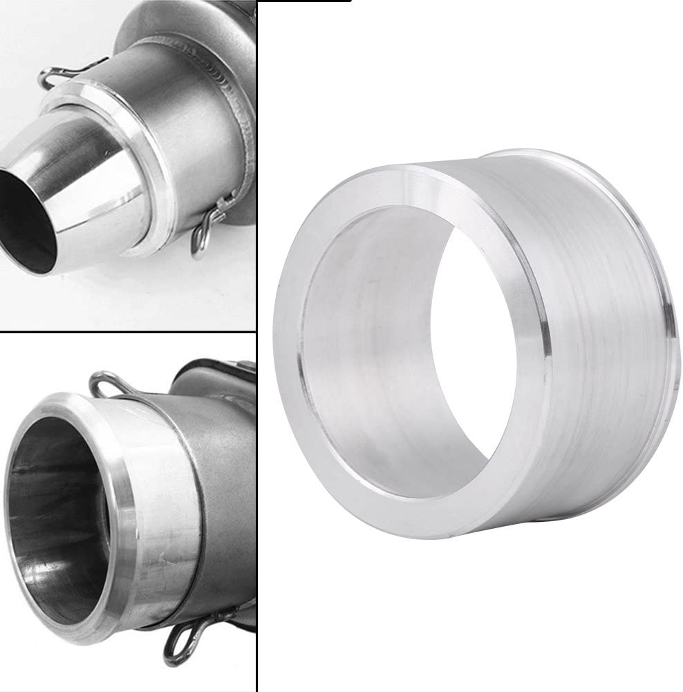 EBTOOLS 60mm to 51mm Aluminum Exhaust Adapter Reducer Muffler Connector for Motorcycle