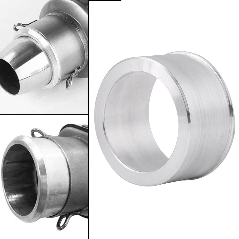 Aluminum Exhaust Adapter Silver 60mm to 51mm Motocross Motorcycle Exhaust Pipe Adapter Reducer Muffler Connector