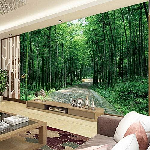 壁画の壁紙3D牧歌的な風景竹の森の壁紙リビングルームのソファの背景の家の装飾-400x280cm