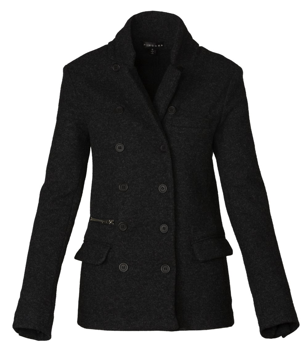 Pingora Women's 100% New Zealand Merino Wool Blazer For Dress, Work, Travel or Outdoor Activities (Large) by Pingora