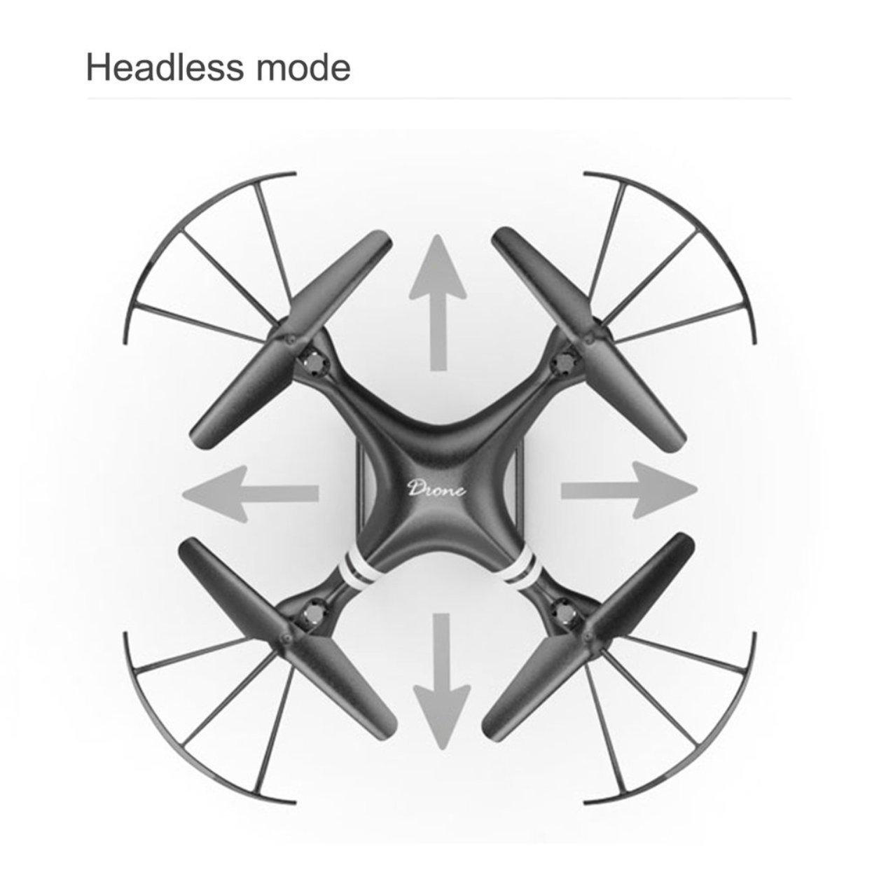Dailyinshop Lente Gran Angular 0.3MP FPV Cámara Quadcopter RC 2.4GHz Drone WiFi FPV 0.3MP Helicóptero (Color: Negro) c67c14