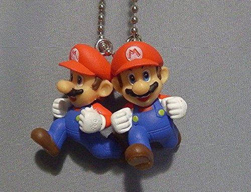 Nintendo Super Mario 3-D world Mascot Swing Figure Keychain~Double Mario 28mm (Bros Ds Mario Lite)