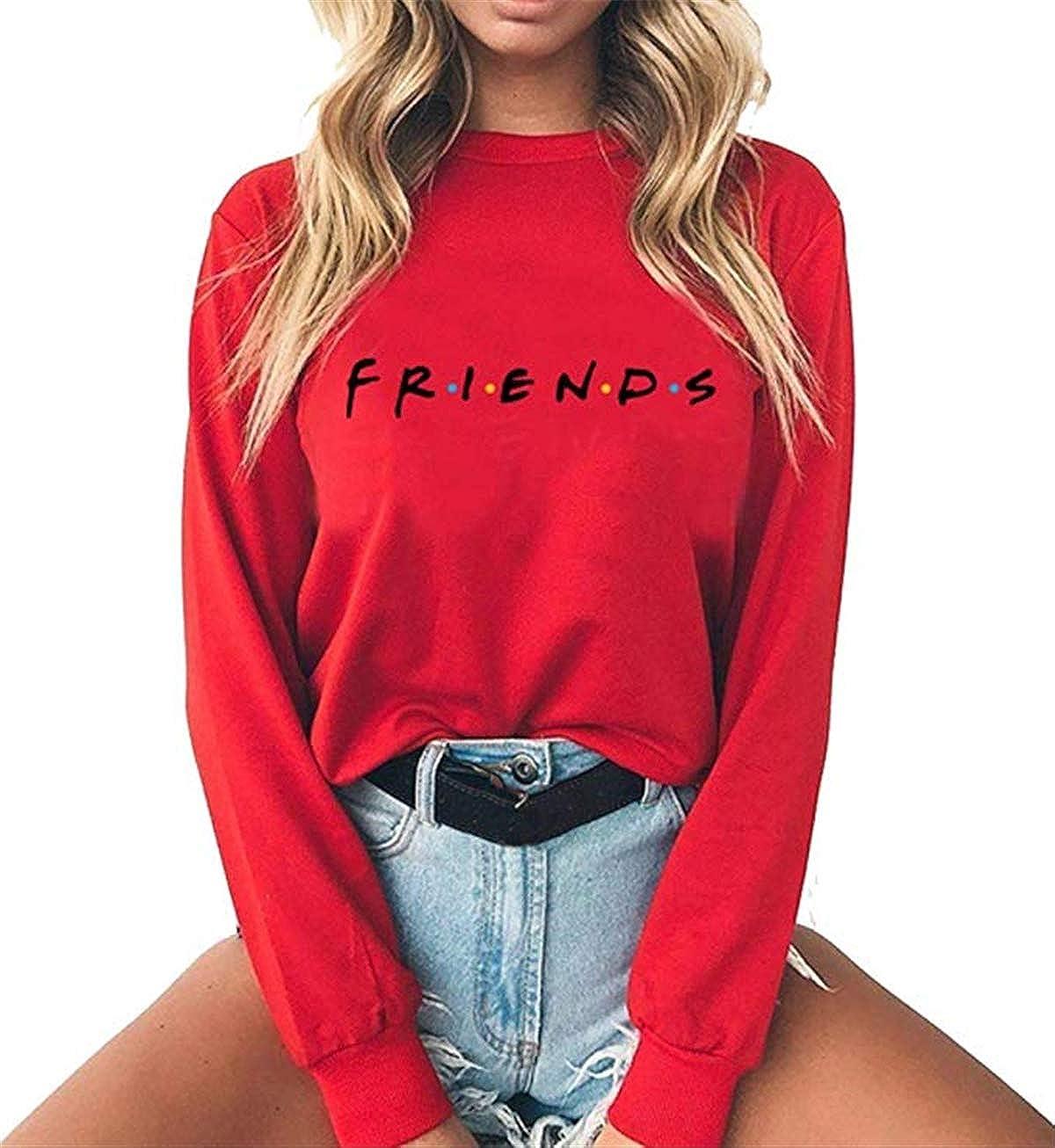 Baby Room Women's Casual Friends Printed Long Sleeve Pullover Sweatshirt