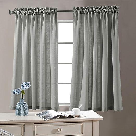 "Style Decor Mystic Grommet Panel Woven Curtains 2 Panels Mystic Green 40/""X84 New"