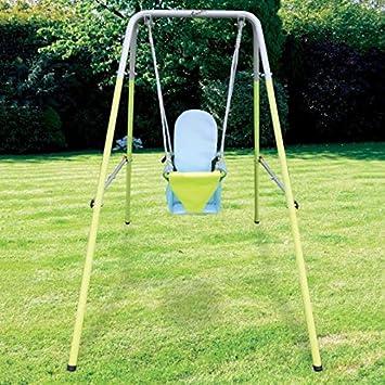 AIRWAVE Outdoor Play - Columpio Plegable para jardín: Amazon.es: Juguetes y juegos