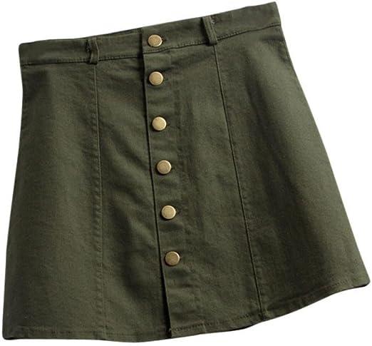 lianmeng Mujer Cintura Rock Corto Minifalda Denim Rock corta ...