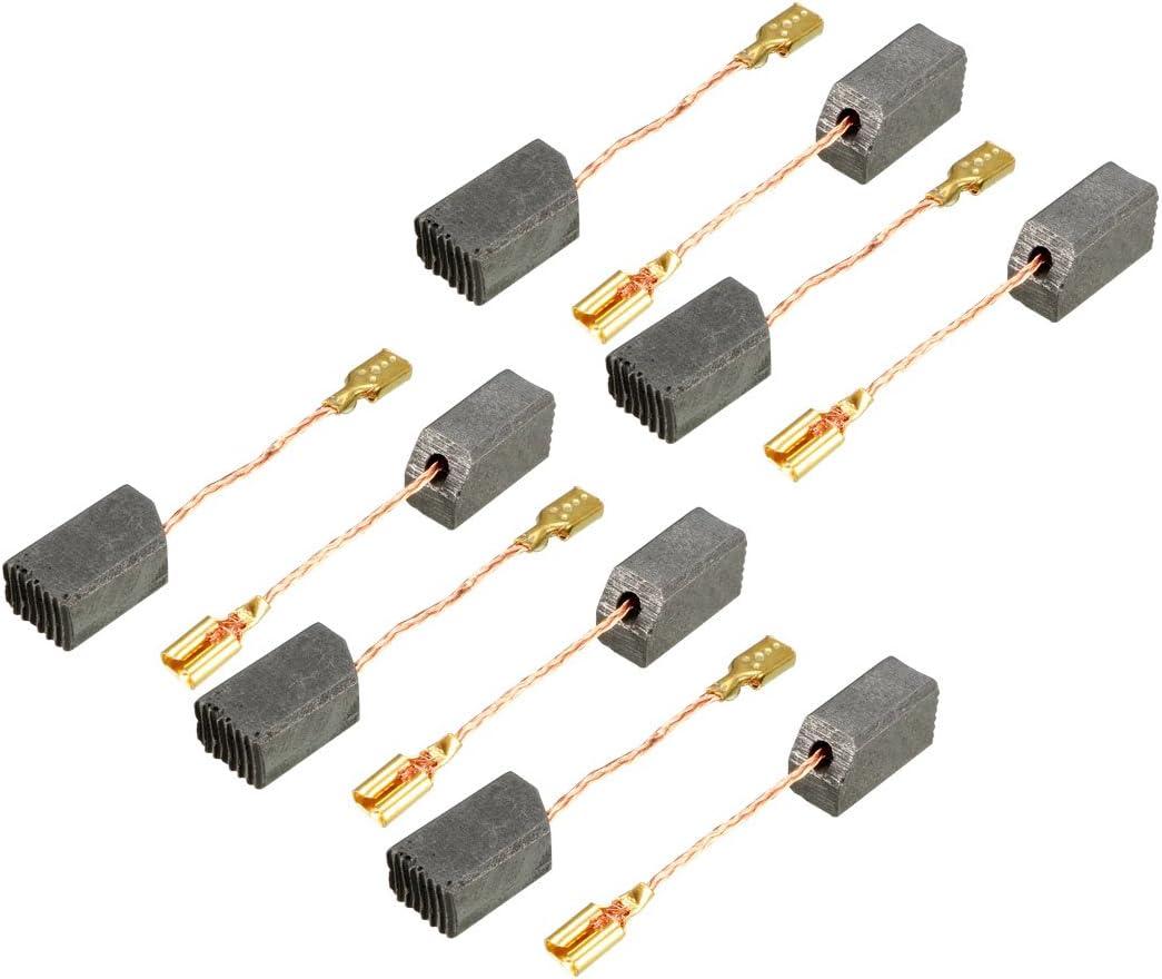 Sourcingmap Kohlebürsten Für Elektromotor 14 Mm X 8 5 Mm X 6 5 Mm Elektrowerkzeug Dewalt Schleifer Reparaturteil 10 Stück