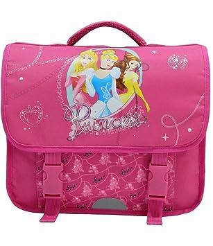nouveau style 18d3c 38041 Cartable enfants en CP. Sac rose avec motifs princesses Disney.