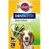 Pedigree Dentastix Fresh Snack per la Igiene Orale (Cane Medio 10-25 kg) 180 g 28 Pezzi - 4 Confezioni da 28 Pezzi (112 Pezzi totali)