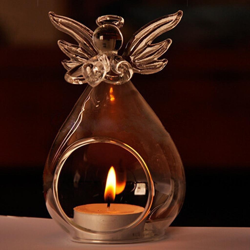 PQZATX Ensemble de 2 Vase en Verre Transparent Mignon Vase en Verre en Forme dange Vase de Fleur Vase Suspendue pour Les Plantes Vase de Mariage