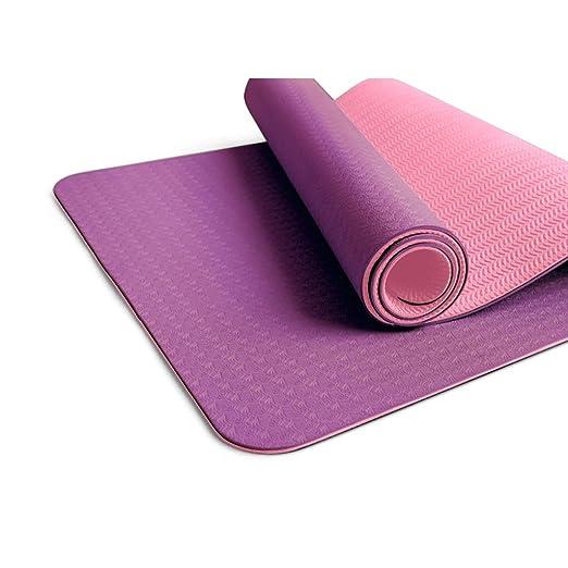 IUYWL Estera de Yoga TPE ensanchada Engrosamiento Estera de ...