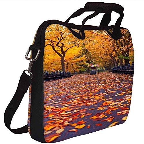 Snoogg New York Herbst-Park Gedruckt Notebook-Tasche mit Schultergurt 15 bis 15,6 Zoll