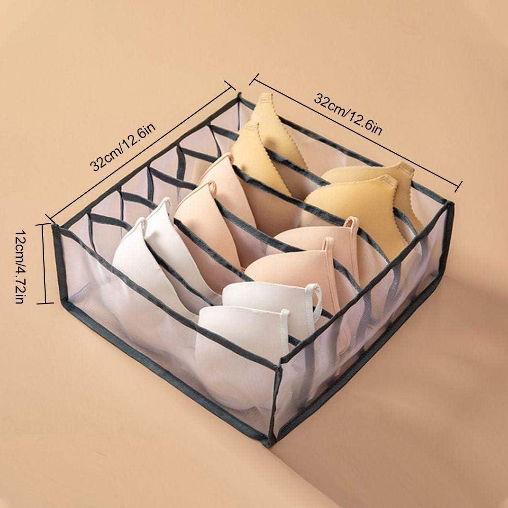 BESTEU Bo/îte de Rangement pour sous-v/êtements Chaussettes compartiment/ées Art en Tissu Mettre Culotte Type de tiroir bo/îte de Compartiment m/énager s/épar/ée