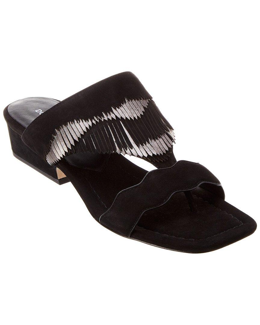 Donald J Pliner Women's Darcie Slide Sandal, Black, 7.5 Medium US
