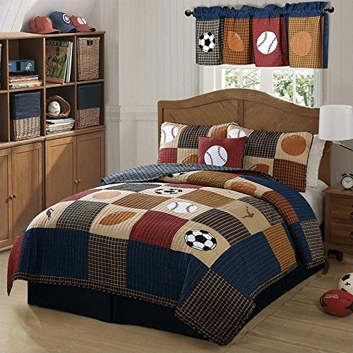 Classic Sports Full/Queen Quilt and 2 Pillow Shams by Pem America by Pem America