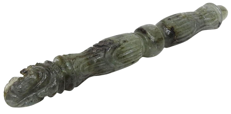 HARMONIZE Ganesha Crystal Carving Wand Lepidolite Stone Elephant Healing Pencil Wands