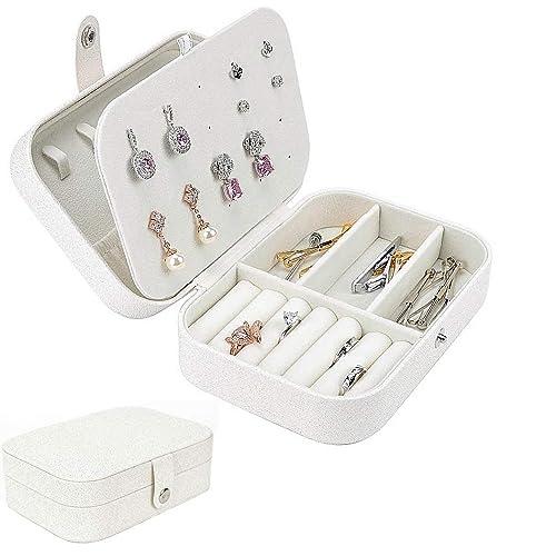 iSuperb Pequeña Joyero Viaje Decorativas Cajas para Joyas Jewelry Organizer para Mujer 16 .5 x 11.5 x 5.5 cm