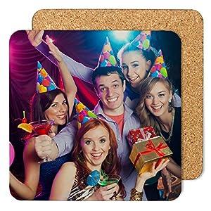 LolaPix Posavasos Cuadrado de cartón Personalizado con Foto Texto Imagen Nombre. Regalo Original. Varios Modelos 16