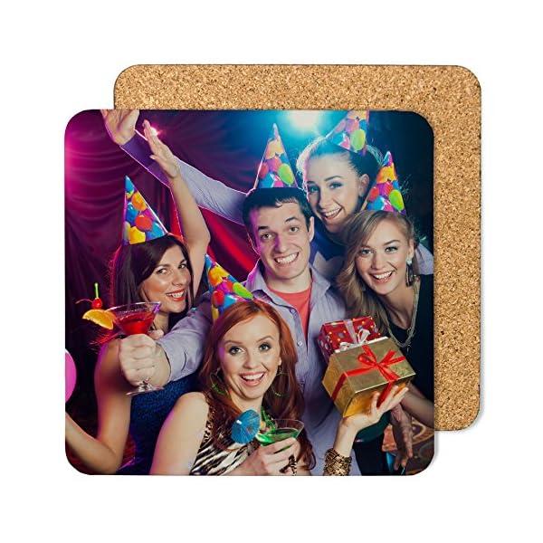 LolaPix Posavasos Cuadrado de cartón Personalizado con Foto Texto Imagen Nombre. Regalo Original. Varios Modelos 2