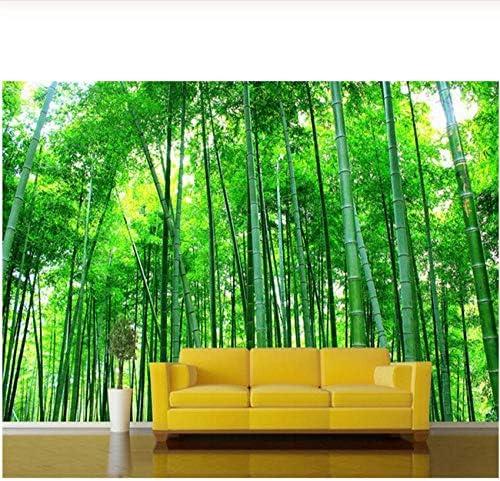 Xbwy 壁画緑の竹の風景壁紙リビングルームベッドルームテレビ壁画装飾自然風景壁紙-250X175Cm