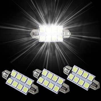 Muchkey - 8 x Bombillas LED interiores SMD Festoon C10