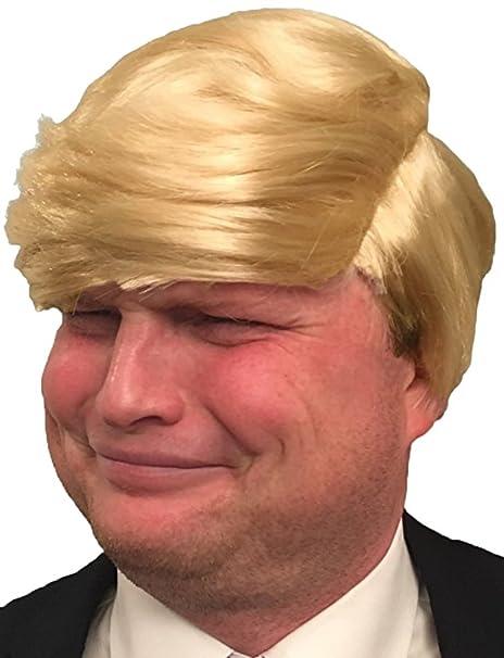 Amazon.com  Hisilli Hilarious Donald Trump Wig (Yellow-Blonde)  Clothing 081b3accb