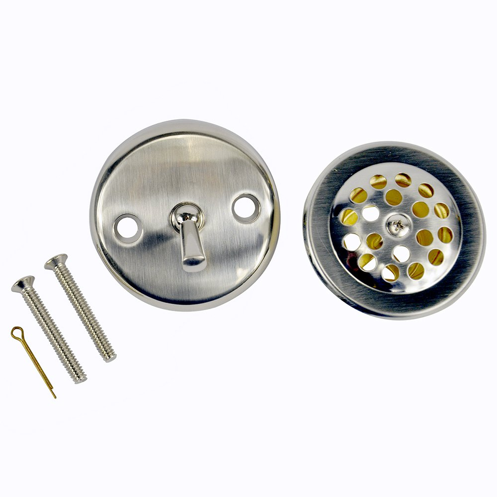 Danco 89242 Trip Lever Tub/Bath Drain and Overflow Trim Kit/Plate in Brushed Nickel by Danco