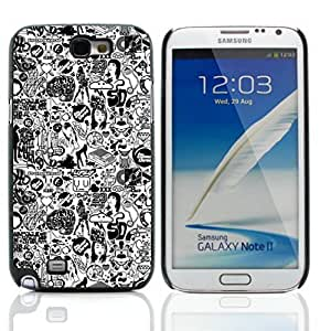 Graphic4You Comics Black And White Design Hard Case Cover for Samsung Galaxy Note 2 Note II