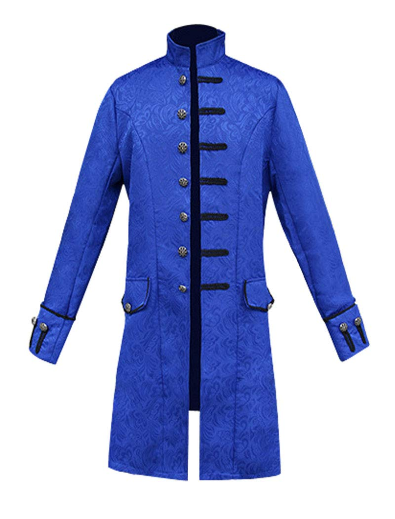 MasaRave Mens Victorian Frock Coat Steampunk Jacket 5